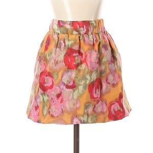 J. Crew Floral A-Line Mini Skirt w/Pockets